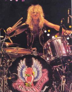 This man has overcome much adversity in his life. Original drummer for Guns n' Roses, Steven Adler. Steven Adler, Guns N Roses, Axl Rose, Hard Rock, Heavy Metal, Duff Mckagan, Idol, Rock And Roll Bands, Rockn Roll