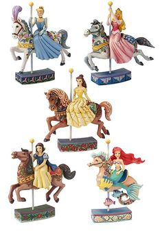 disney princess carousel figurines by Jim Shore Disney Home, Disney Dream, Disney Magic, Disney Art, Disney Movies, Disney Characters, Disney Stuff, Disney And Dreamworks, Disney Pixar