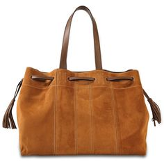 Gerard Darel Simple 2 Bis Folk tote bag (93.955 HUF) found on Polyvore featuring women's fashion, bags, handbags, tote bags, brown, tote handbags, suede tote bag, brown tote purse, bohemian tote bag and suede handbags