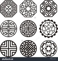 Korean Traditional Symbol Vector Image - 274608587 : Shutterstock