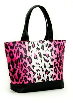 """Pink Cheetah Mini Tote  Price: $7.00  Cute and fun satin mini tote.    10.75"""" X 7.5""""    100% Polyester  What does your style CONVEY about you?"""