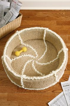 crocheted cat or dog bed. Or maybe this one for Laura?? Different colors again.