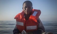 Mediterranean Sea Dustin, from Nigeria, who said his mother died in Libya… People In Need, Dinghy, Weird And Wonderful, 21st Century, Amazing Photography, Spanish, Children, World, Mediterranean Sea