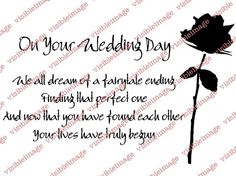 Visible Image Wedding Day Verse Stamp Quotes Cards