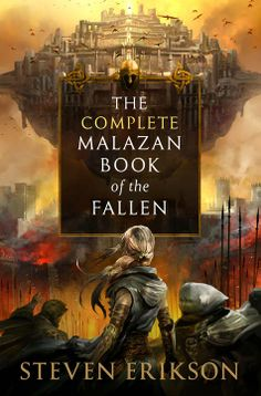 Cover art (Kekai Kotaki) for The Complete Malazan Book of the Fallen ebook by Steven Erikson. Amazing cover, extremely overpriced ebook.