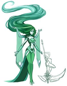 Steven Universe Diamond Great Authority | Green Fluorite a fusion of my fan gem Diamond and Syd's fan gem ...