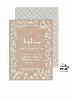 Baptism Invitation / Boy Baptism Invitation / Christening