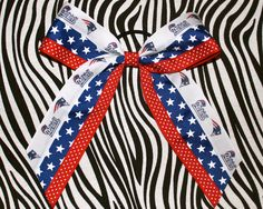 New England Patriots Cheer Bow by MegansHairCandy on Etsy, $12.00