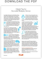 8 Quick Tips for Successful Workplace Surveys | Workplace Research | Resources | Knoll
