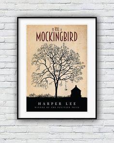 To Kill a Mockingbird print, Literature Poster, Book Lover Gift, To Kill a Mockingbird Movie, Literature gifts, Mockingbird poster