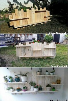 Here we are bringing out with the so lovely and pleasant designed creation of the wood pallet that has been in the form of wall shelf. It is all created out with the modern working that is much artistic looking. You can ideally make it locate on top of the wall perfectly. #WoodworkingProjects