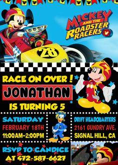 Mickey y la invitación de corredores Roadster invitación