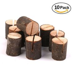 Rustic Wood Table Numbers Holder Wood Place Card Holder Party Wedding Table Name Card Holder Memo Note Card (10pcs)