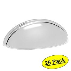 cosmas polished chrome cabinet hardware bin cup drawer handle pull hole centers 10 pack high quality polished chrome finish hole centers overall