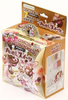 DIY clay chocolate charm making kit Japan Happy Sweet