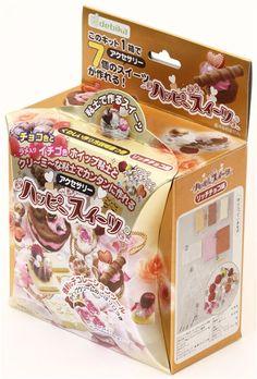 DIY clay chocolate charm making kit Japan Happy Sweet