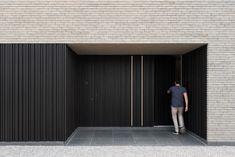 Entrance Doors, Garage Doors, Sport Studio, Brick Building, Park Homes, Hyde Park, Bricks, Facade, Architecture Design