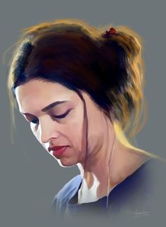 dipika padukon Painting Portraits, Portrait Art, Bolly Wood, Dipika Padukone, India Painting, Indian Art Paintings, Acrylic Art, Caricatures, Figure Painting