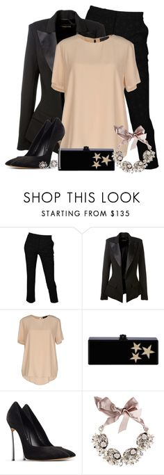 """Christmas party!"" by mona07 ❤ liked on Polyvore featuring Roberto Cavalli, Alexandre Vauthier, Atos Lombardini, Edie Parker, Casadei, Gabriele Frantzen and DANNIJO"