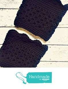 Black Boot Cuffs Crochet Short Calf Leg Warmers Handmade https://www.amazon.com/dp/B01JWFOF22/ref=hnd_sw_r_pi_dp_FrZPxb4ZPGS4T #handmadeatamazon