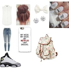 simple white by speakerknockerz-728 on Polyvore featuring Armani Jeans, River Island, Kenneth Jay Lane and H&M