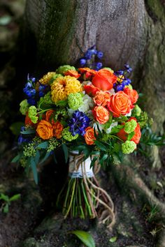 Colorful Autumn Festival Wedding with a Halloween Twist Corsage Wedding, Wedding Bouquets, Wedding Flowers, Orange Wedding Colors, February Wedding, Bridal Tips, Wedding Crashers, Bridezilla, Wedding Things