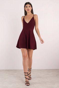 Audrey Wine Cami Day Dress