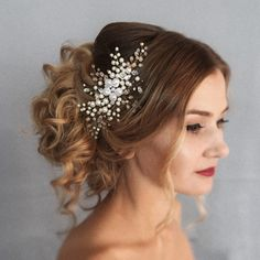 Bridal headpiece • bridal hair comb • gold • rose gold • blush • hair accessories • ivory • rhinestone • wedding accessories • jewelry • inspiration