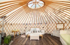 inside yurts | Willow Yurt - The Yurt Retreat
