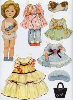 Ginger paper doll