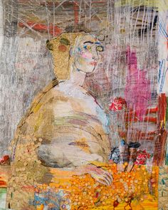 In 2013 acclaimed British textile artist Alice Kettle created three specially co. Fine Art Textiles, Modern Art, Contemporary Art, Creative Embroidery, Diy Embroidery, Machine Embroidery, Artist Sketchbook, Fashion Sketchbook, Free Motion Embroidery