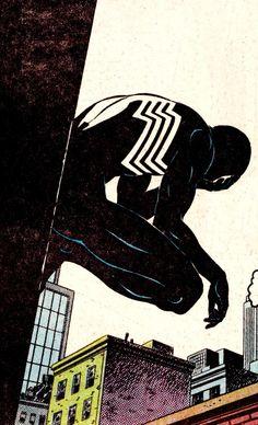 I'm bringing sexy back Black Spiderman, Spiderman Art, Amazing Spiderman, Old Comics, Vintage Comics, Marvel Art, Marvel Heroes, Comic Books Art, Comic Art