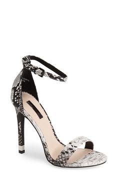 Topshop 'Ruby' Snake Embossed Ankle Strap Sandal (Women) available at #Nordstrom