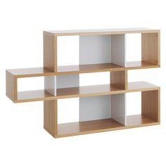 ANTONN Low oak/white shelving unit