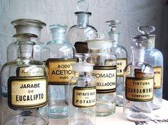 Vintage apothecary jars