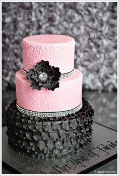Glam Pink Cake Decoration