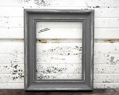 """Frame Grey 8x10 Picture Frame - Rustic 2"""" Thick Shabby chic - Vintage Style Charcoal Gray - Grey Painted Distressed Photo Frame - Chunky"""