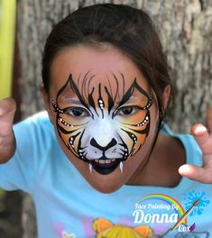 Face Painting Designs, Paint Designs, Tiger Face Paints, Face Paintings, Cat Face, Carnival, Cats, Mardi Gras, Gatos