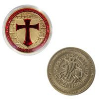 Knights Templar Coin Pure Gold Plated Exclusive Art Coin Special Limited Edition Coins