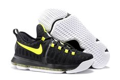 2335df83a87 2016 Nike KD 9 Black Yellow Mens Basketball Shoes For Sale