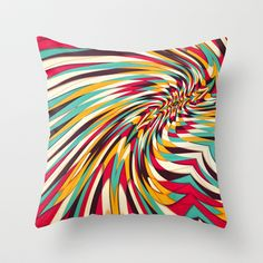 Vanishing Point Throw Pillow by Danny Ivan - $20.00