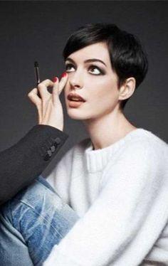 Anne Hathaway Cool Pixie