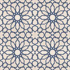 Starburst Blue Cement Tile