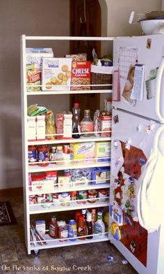 She wanted more kitchen storage without remodeling. First she ... on apartment storage ideas, zipper storage ideas, koozie storage ideas, assembly line storage ideas, refrigerator containers and organizers, television storage ideas, cable storage ideas, gaming console storage ideas, nylon storage ideas, trash can storage ideas, refrigerator full of bud light, storage storage ideas, cooler storage ideas, bar storage ideas, kitchenette storage ideas, freezer storage ideas, generator storage ideas, cutlery storage ideas, refrigerator can organizer, cabinets storage ideas,