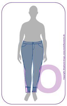 Der O-Typ bleibt bei Jeans besser im schmalen, skinny Bereich und bei einem mittelhohen Bund - dann aber durchaus auch mit kürzeren Modellen und Akzenten am Saum. Noch mehr Tipps zu #Jeans für jeden #Figurtyp gibt es bei www.modefluesterin.de - Lesen! Xl Mode, Apple Body Shapes, Plus Size, Skinny, Fashion Tips, Outfits, Beauty, Grey, Human Height