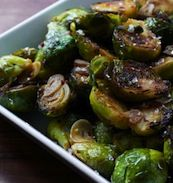 Umami-bombed Brussels sprouts