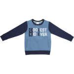 Emerson Boys Pocket Printed Crew Neck Sweater - Navy