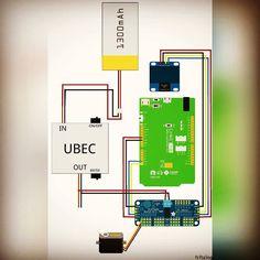 Esquema de ligação entre os componentes do Jarvis criado no Fritzing. Jarvis components connection schema created using Fritzing.  #arduino #mediateklabs #linkitone #oled #display #robot #robotica #robotics #robo #bipede #servomotor #servo #motor #bipedal #bipedalrobot #biped #arduinorobot #arduinoandroid #bluetooth #ubec #pca9685 #i2c #gesture #control #portable #speaker #fritzing by washjunior