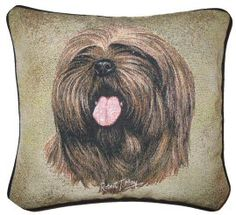 Lhasa Apso Tapestry Cushion Dog Cushions, Tapestry Design, Lhasa Apso, Dog Design, Dog Owners, Throw Pillows, Detail, Dogs, Gifts