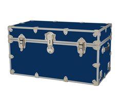 Dorm room large trunk, dorm storage trunk, blue dorm accessories, dorm ideas, storage ideas